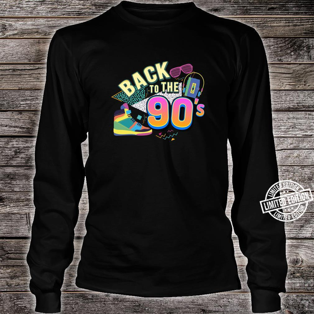90er Jahre Back to the 90s Oldschool Retro Party Shirt long sleeved