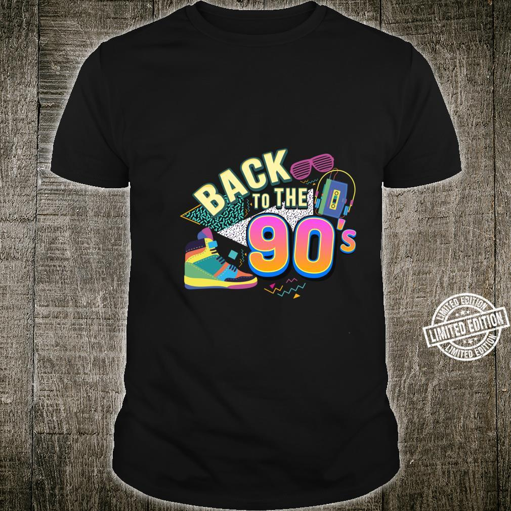 90er Jahre Back to the 90s Oldschool Retro Party Shirt