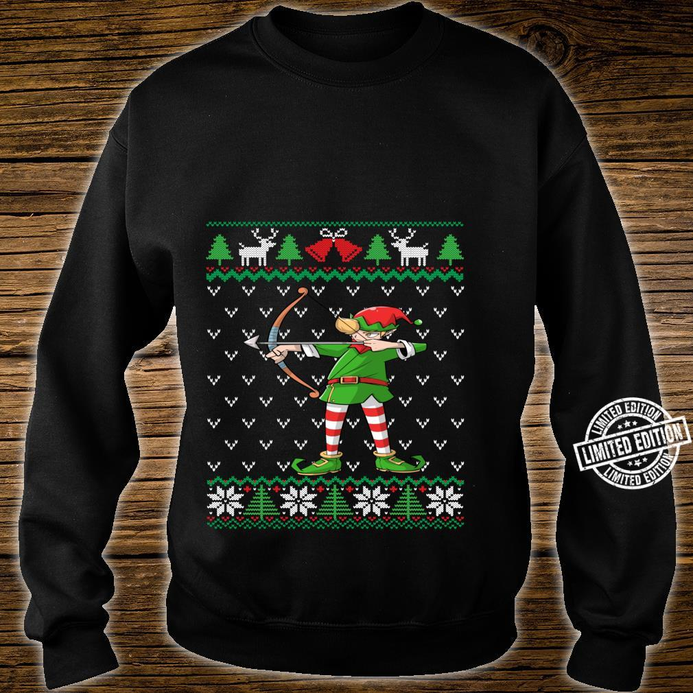 Archery Elf Archer Ugly Christmas Bow Hunting Shirt sweater