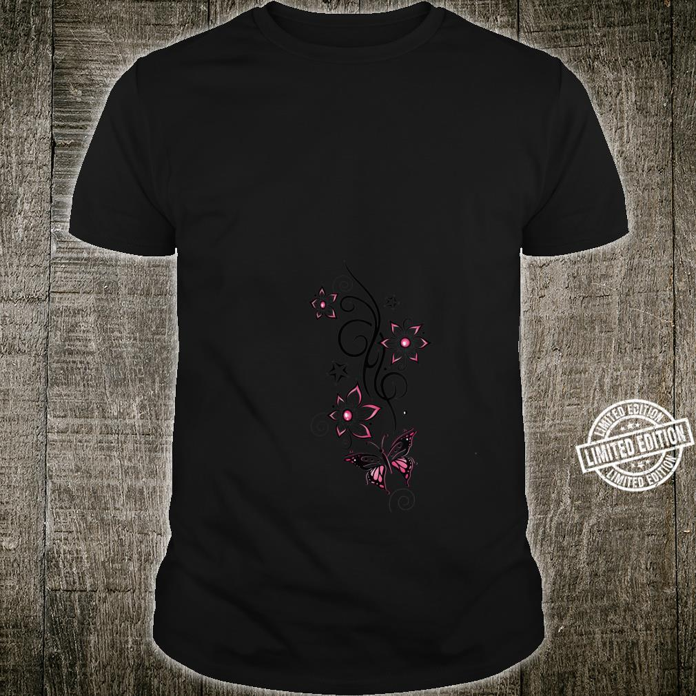 Butterflies with Tribal Tattoo Floral Ornament with stars Shirt