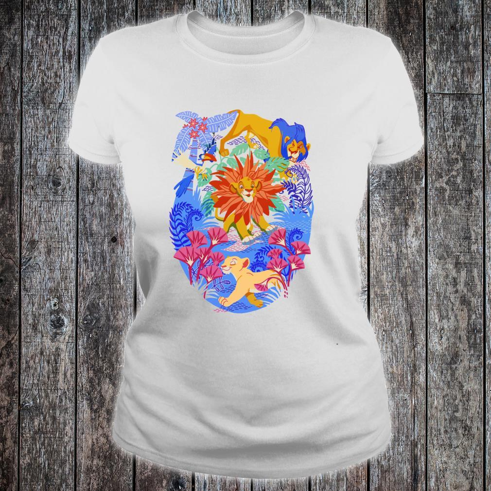 Disney Lion King Simba Can't Wait To Be King Color Pop Shirt ladies tee