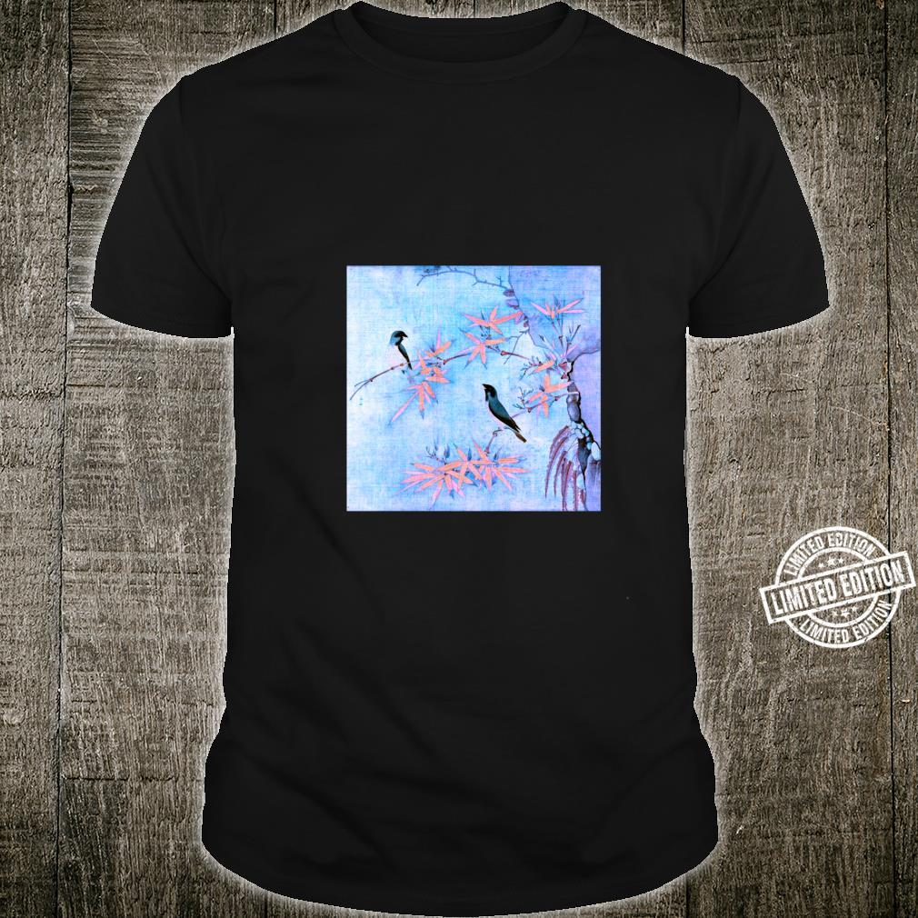 Famous Vintage Art Finches and Bamboo by Huizong Stylish Shirt