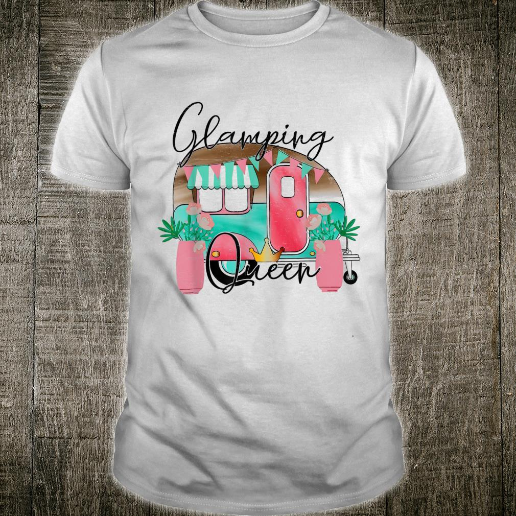 Glamping Queen Happy Glamper Camper Mom Life Shirt