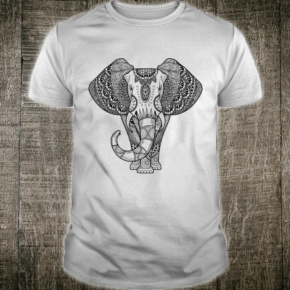 Great Line Art Coloring Elephant Outfit Adult and Paint Shirt
