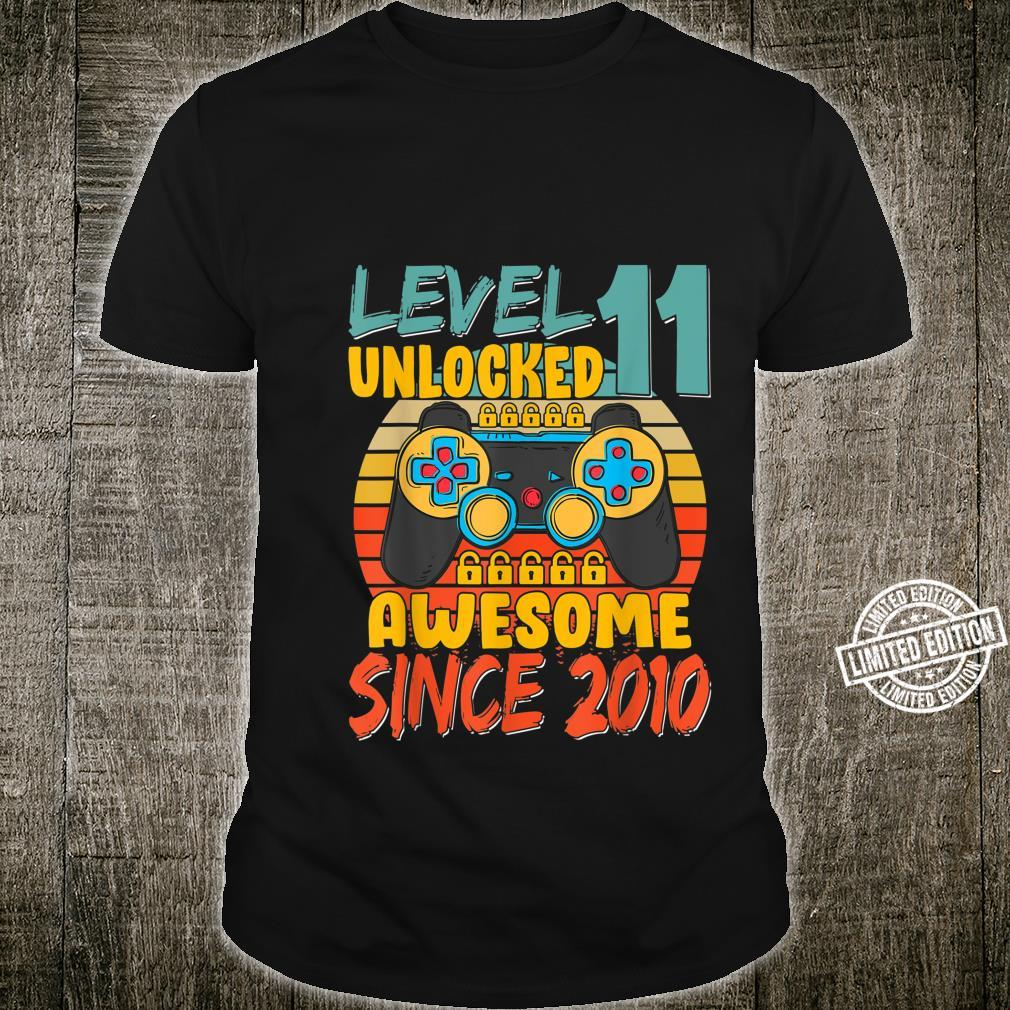 Level 11 Unlocked Birthday 11 Years Old Awesome Since 2010 Shirt