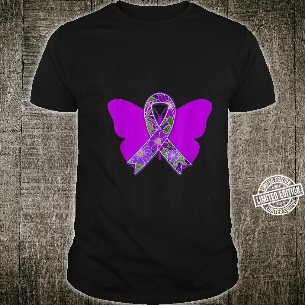 Purple Ribbon with Butterfly Shirt