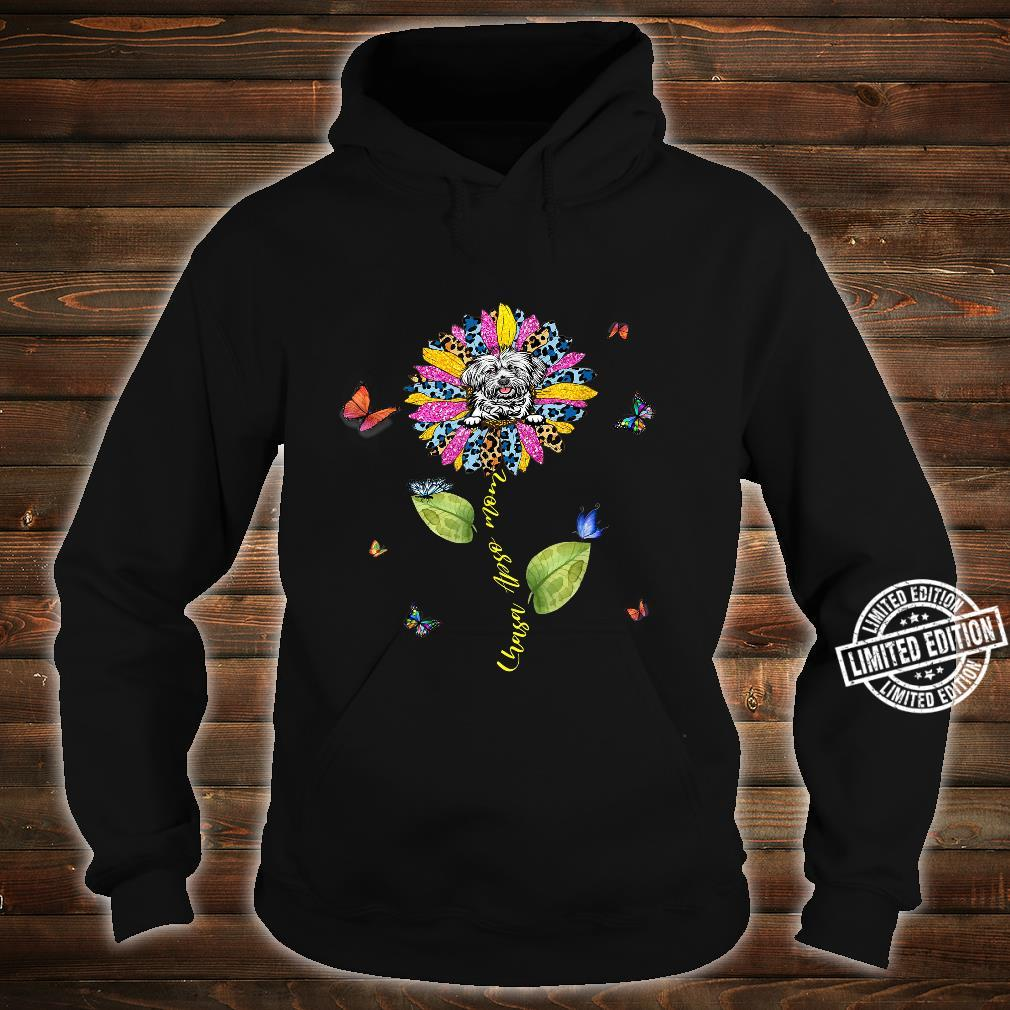 Sunflower Lhasa Apso Mom Mom Dog Shirt hoodie