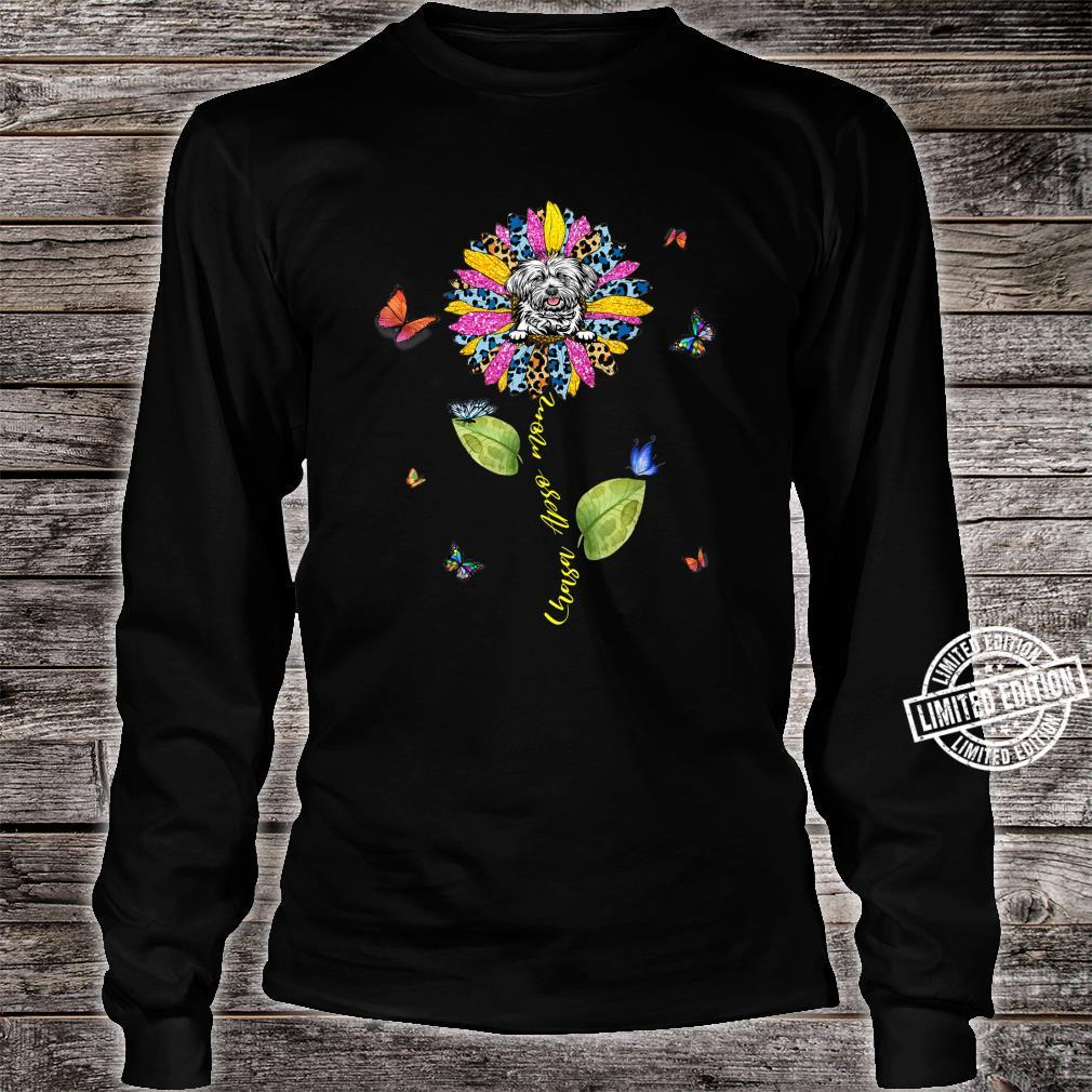 Sunflower Lhasa Apso Mom Mom Dog Shirt long sleeved
