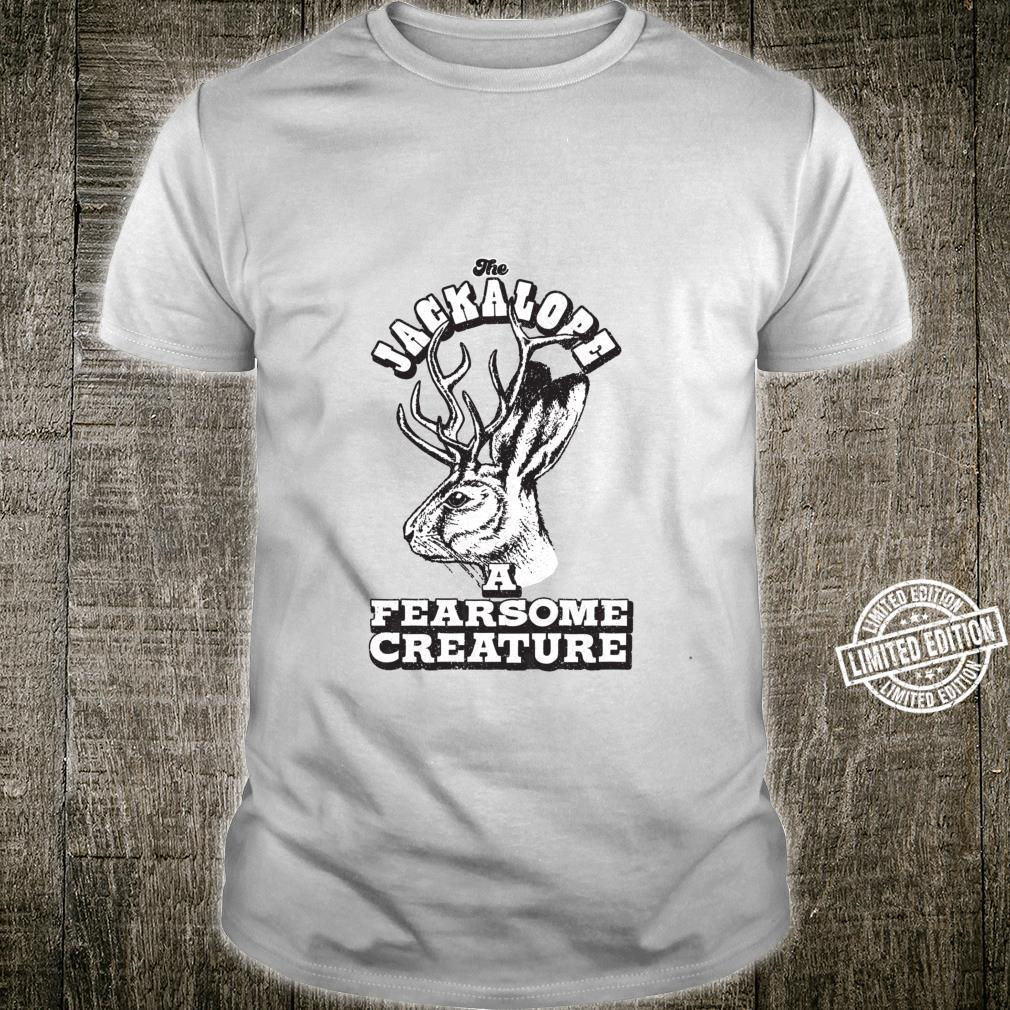 The Jackalope A Fearsome Creature Rabbit Vintage Style Shirt