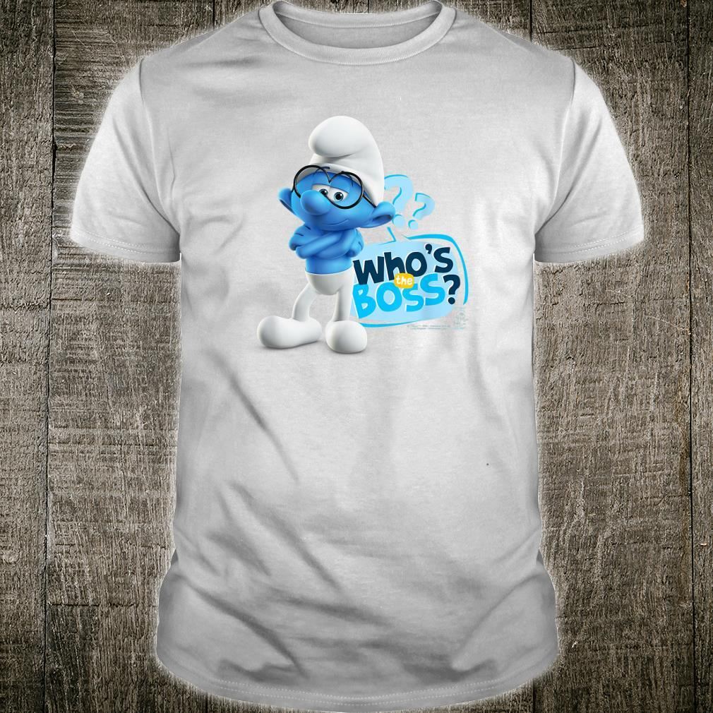 The Smurfs Brainy Who's the Boss Shirt