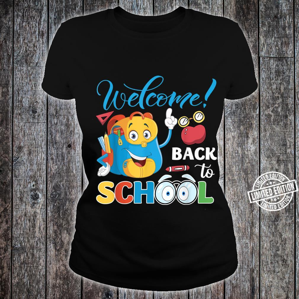 Welcome Back To School First Day Of School Teacher Student Shirt ladies tee