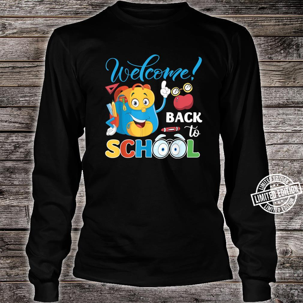 Welcome Back To School First Day Of School Teacher Student Shirt long sleeved