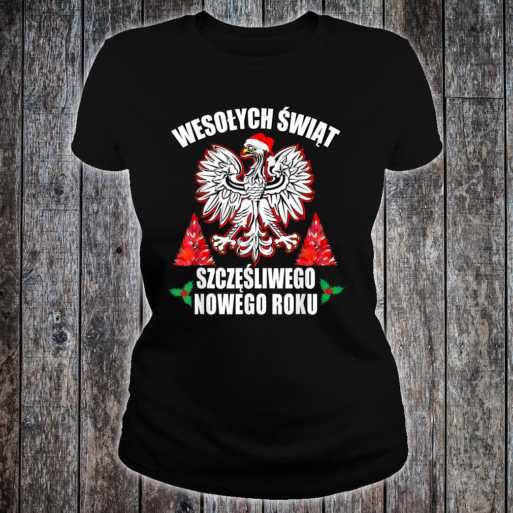 Wesolych Swiat Merry Christmas Happy New Years In Polish Shirt ladies tee