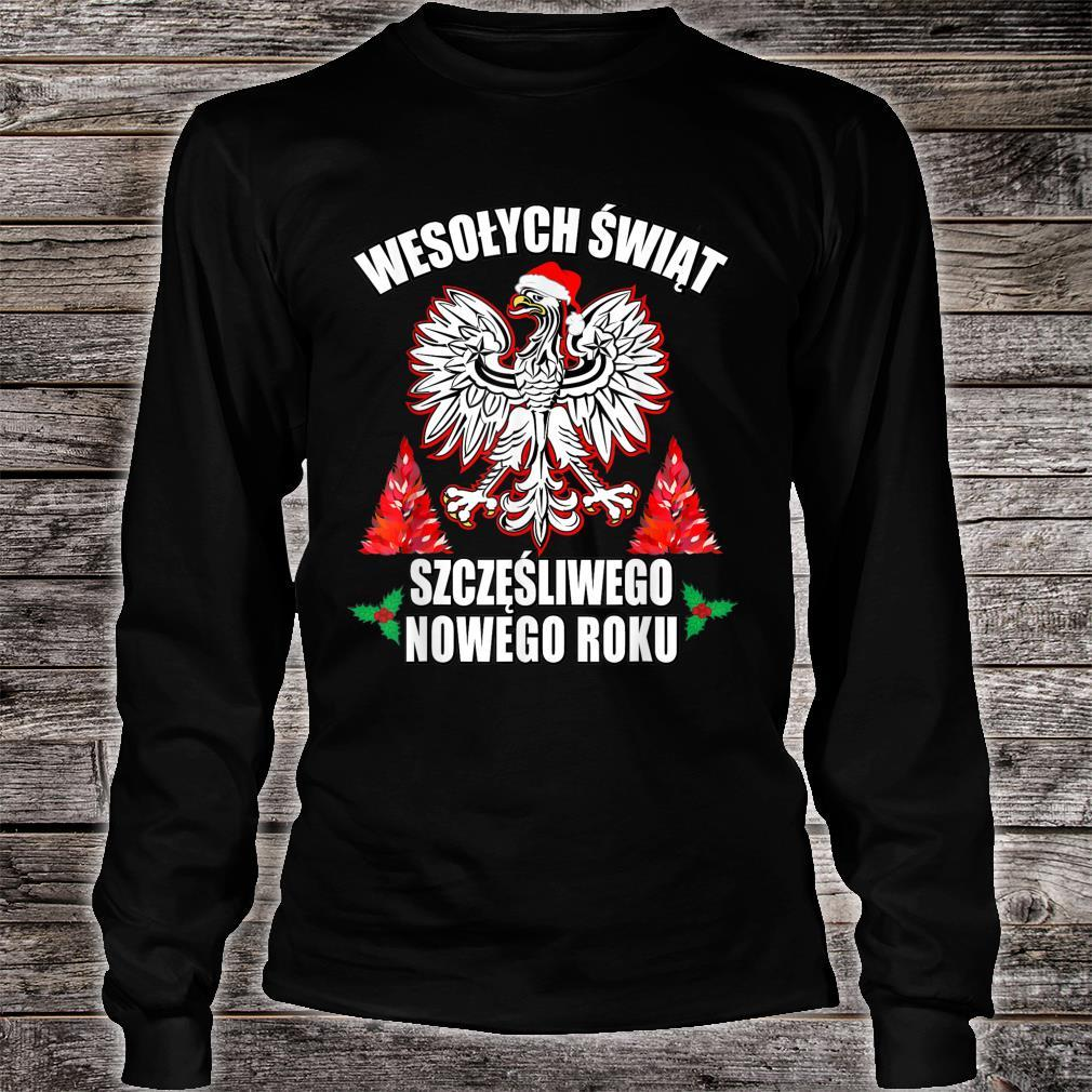 Wesolych Swiat Merry Christmas Happy New Years In Polish Shirt long sleeved