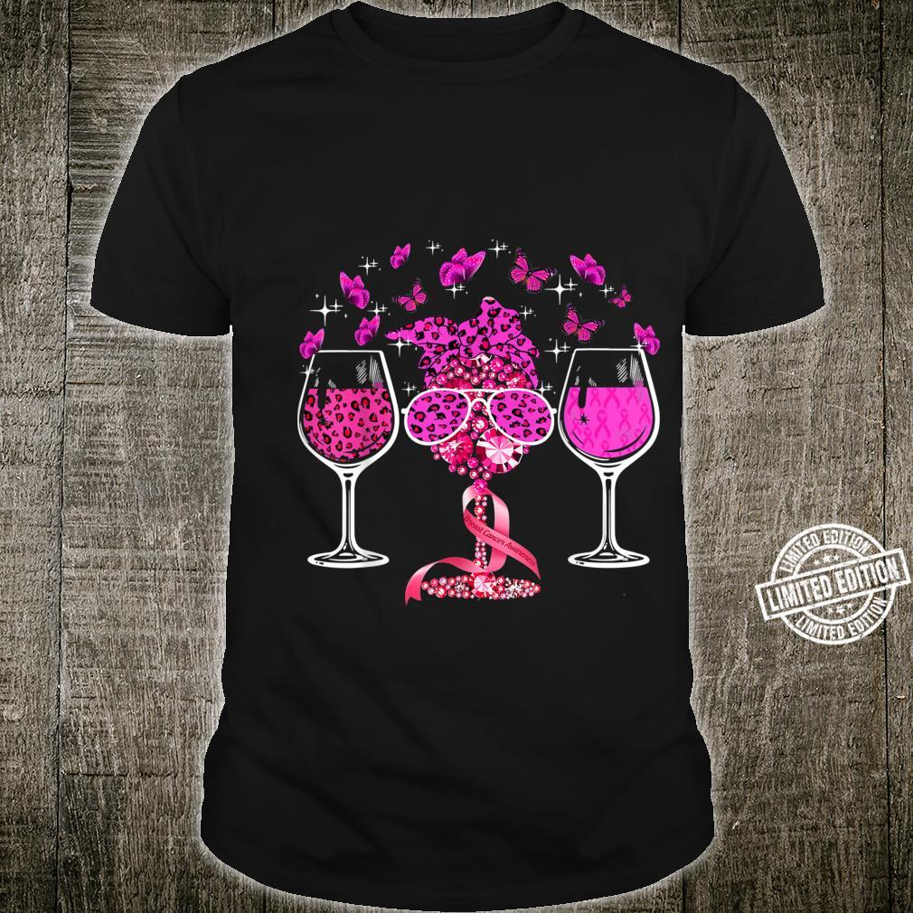 Wines Breast Cancer Awareness Pink Ribbon Wine Glass Shirt