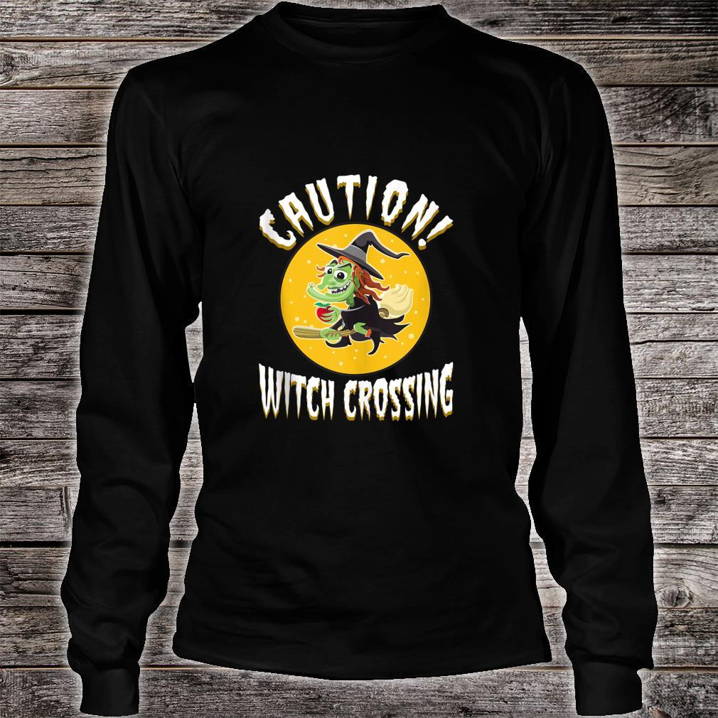 Witch on broom Halloween Night Candy Potion Costume Shirt long sleeved