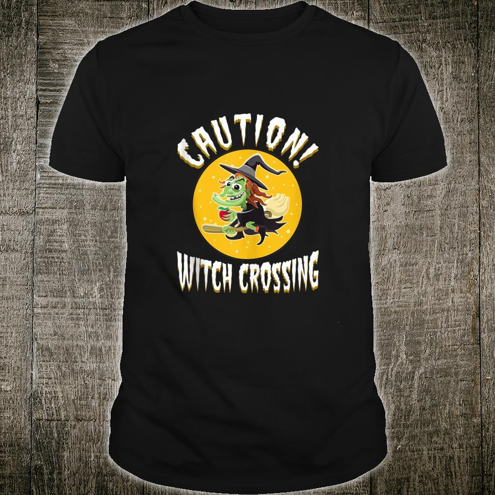 Witch on broom Halloween Night Candy Potion Costume Shirt