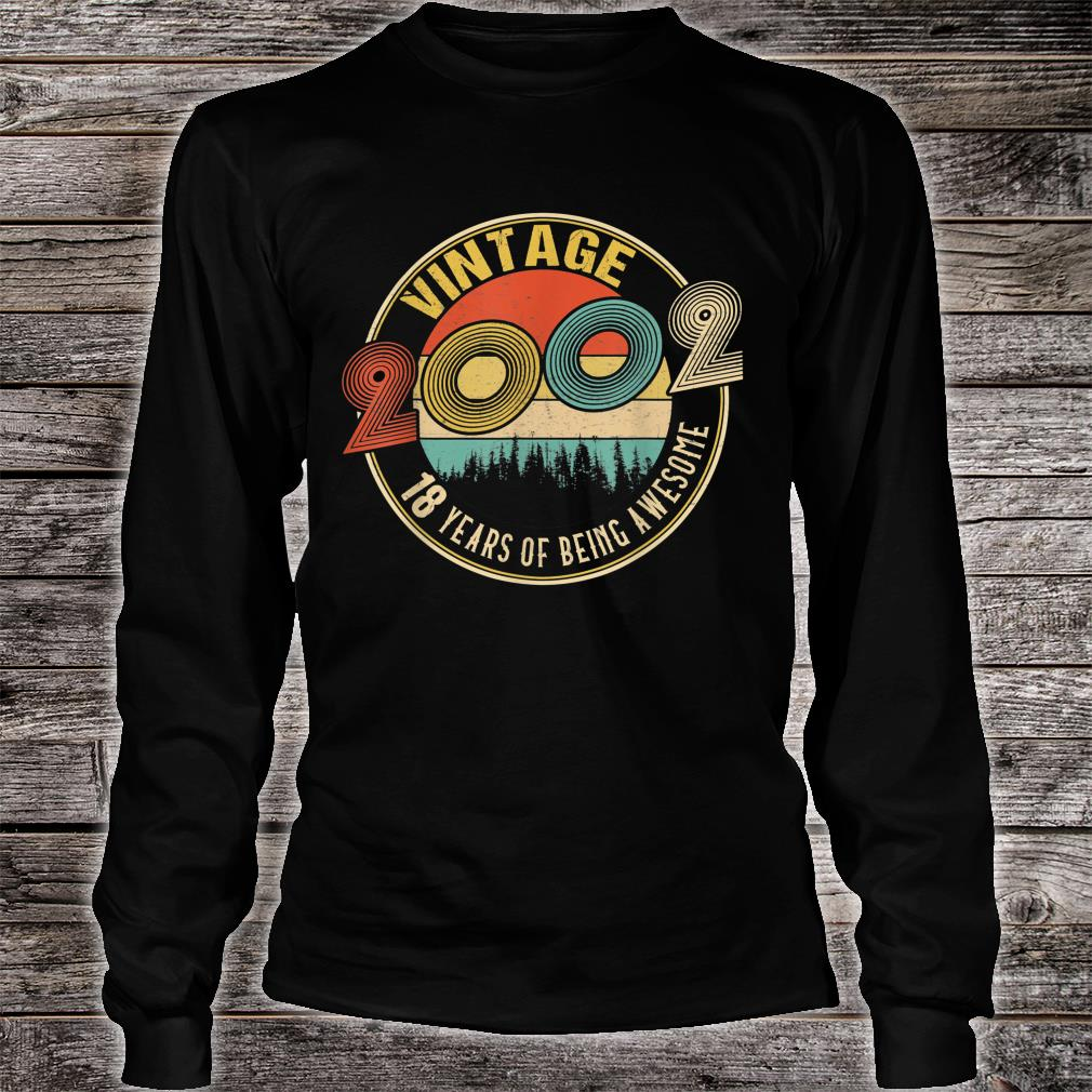 18 Years Old Born in 2002 Vintage 18th Birthday Shirt long sleeved