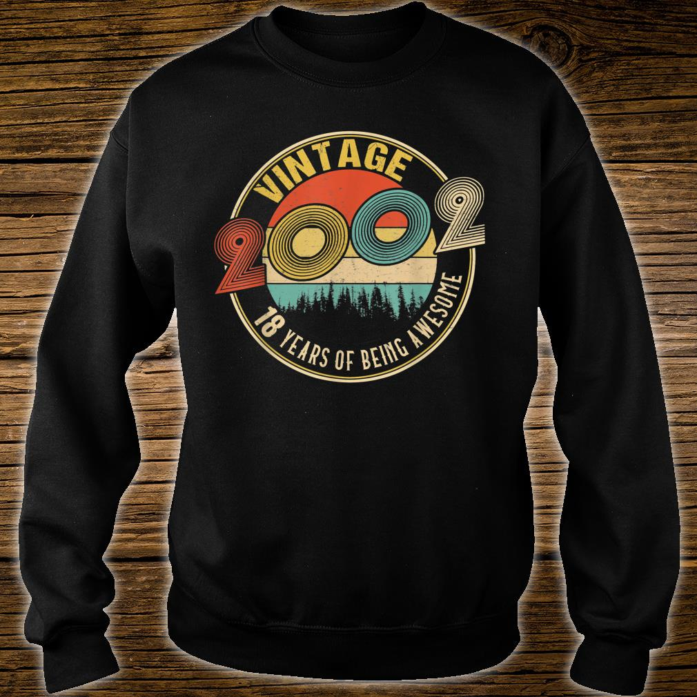 18 Years Old Born in 2002 Vintage 18th Birthday Shirt sweater