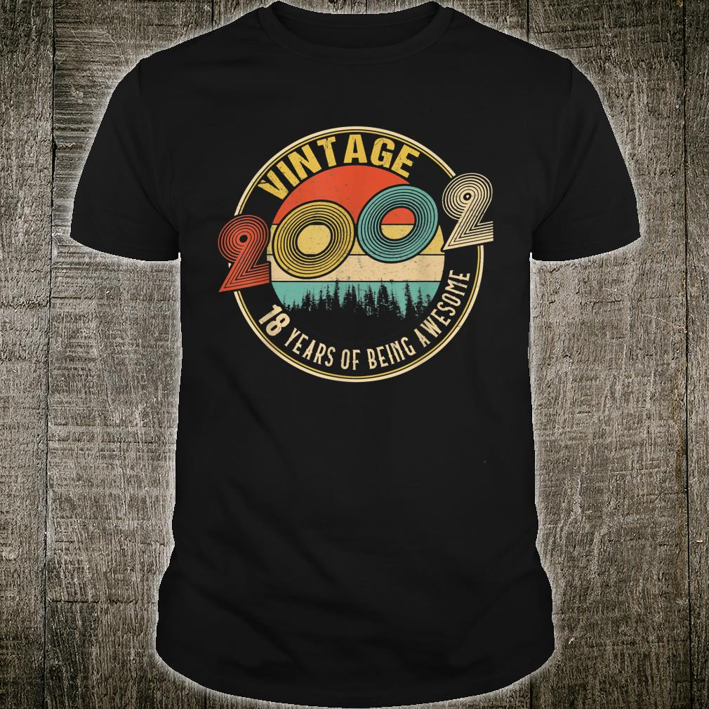 18 Years Old Born in 2002 Vintage 18th Birthday Shirt