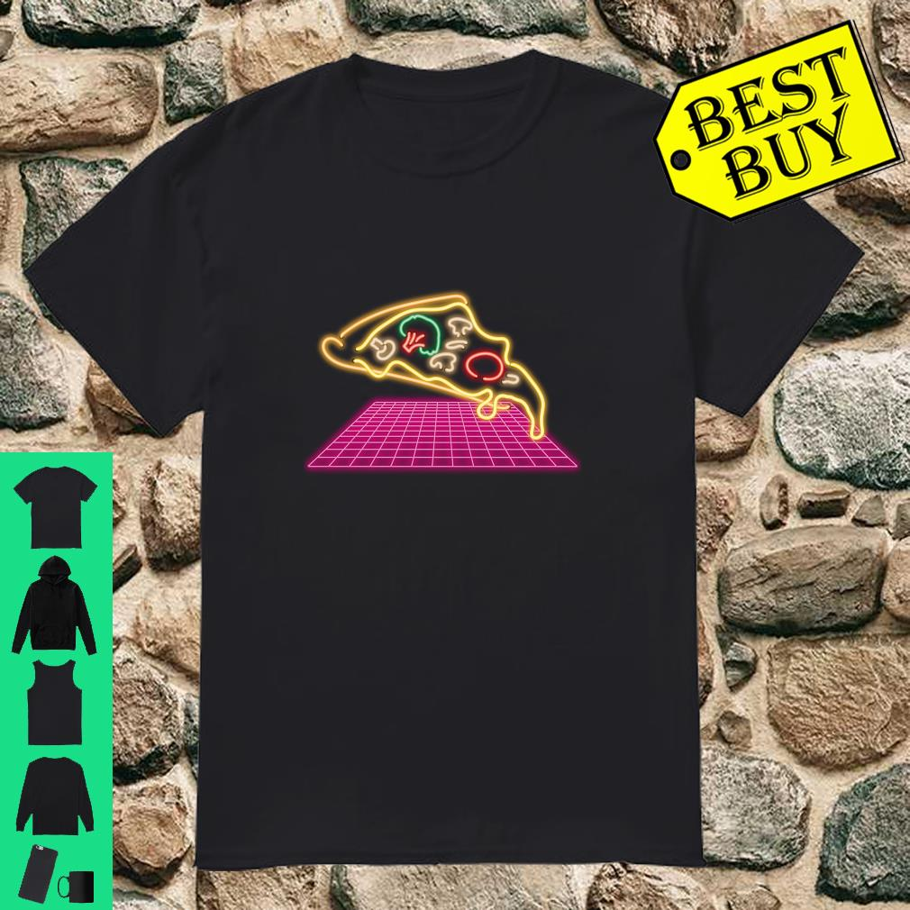 80s Pizza Slice with melting Cheese and Veggies Shirt