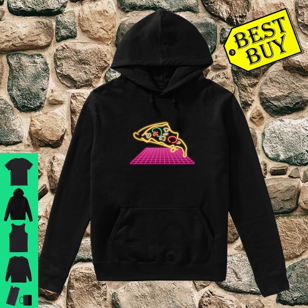 80s Pizza Slice with melting Cheese and Veggies Shirt hoodie