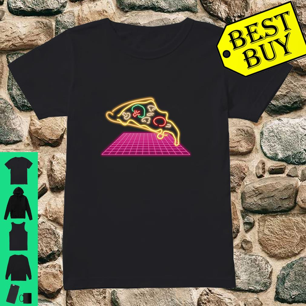80s Pizza Slice with melting Cheese and Veggies Shirt ladies tee