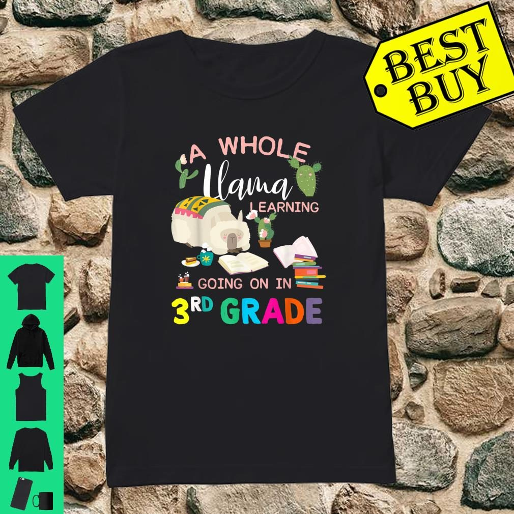 A Whole Llama Learning Going On In 3rd Grade Back To School Shirt ladies tee