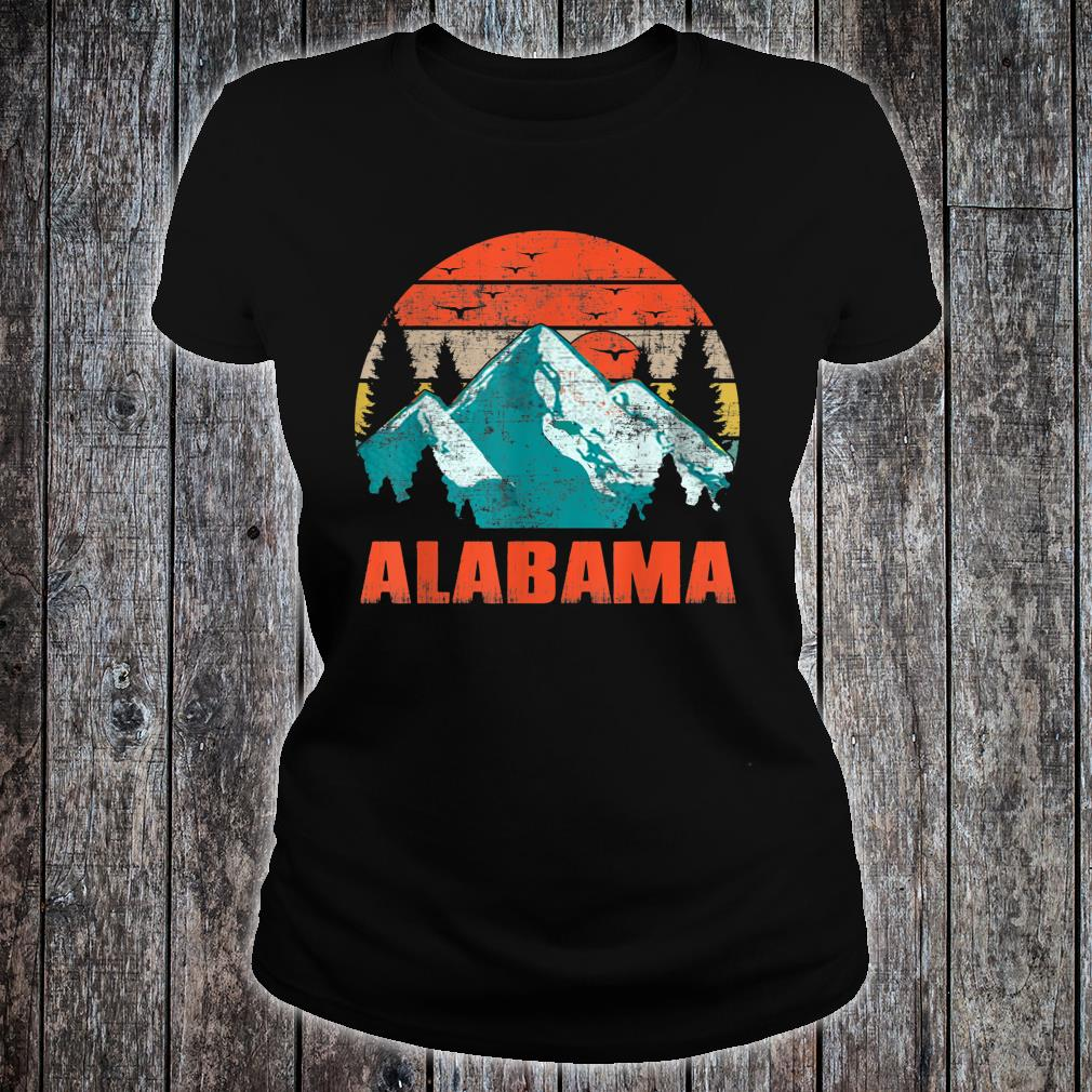 Alabama Retro Vintage Skyline Shirt ladies tee