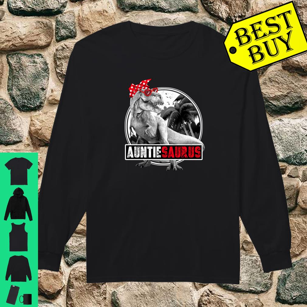 Auntiesaurus Shirt TRex Auntie Dinosaur Shirt long sleeved