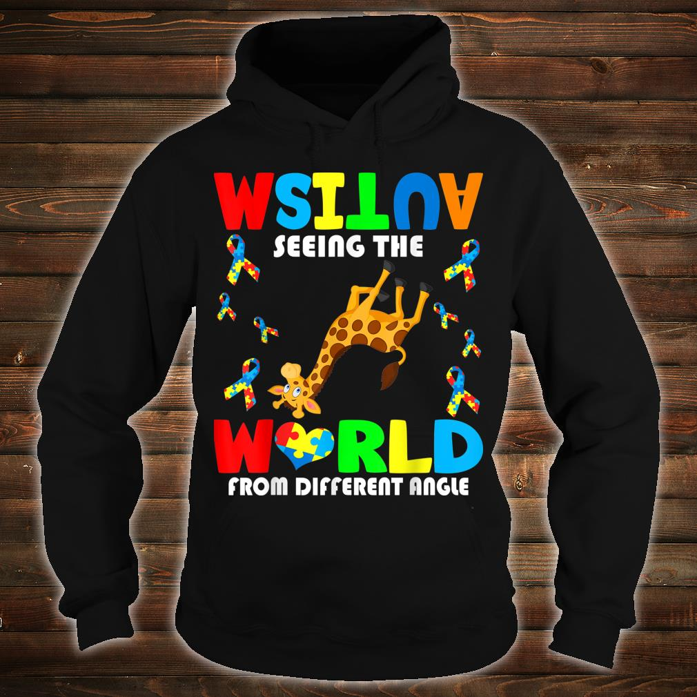 Autism Seeing The World From Different Angel Giraffe Autism Shirt hoodie