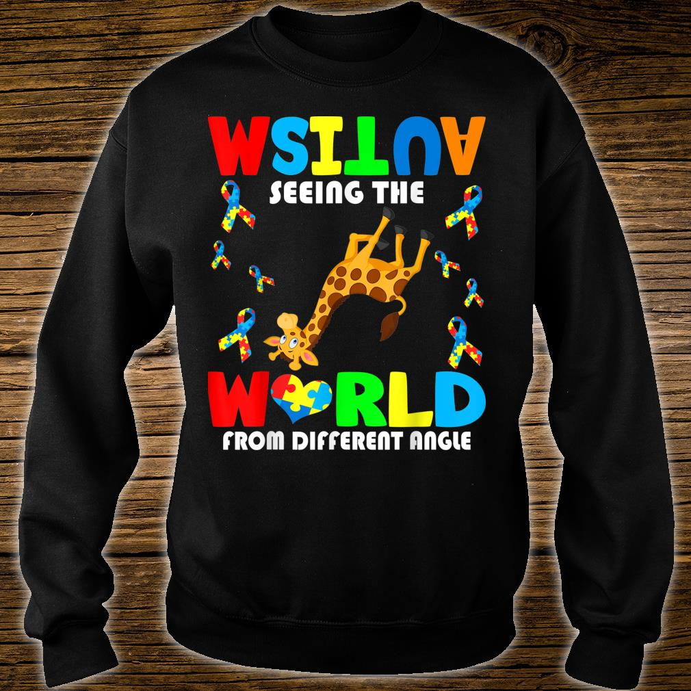 Autism Seeing The World From Different Angel Giraffe Autism Shirt sweater