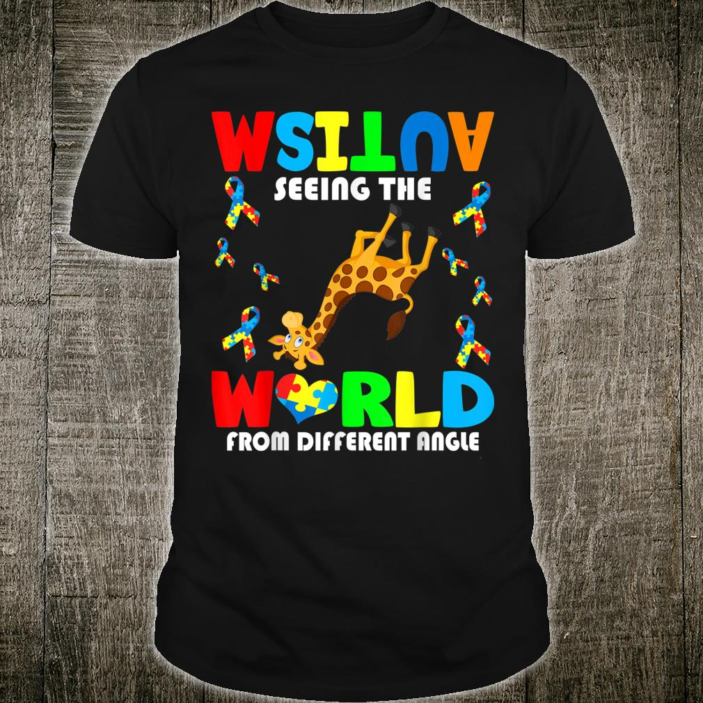 Autism Seeing The World From Different Angel Giraffe Autism Shirt