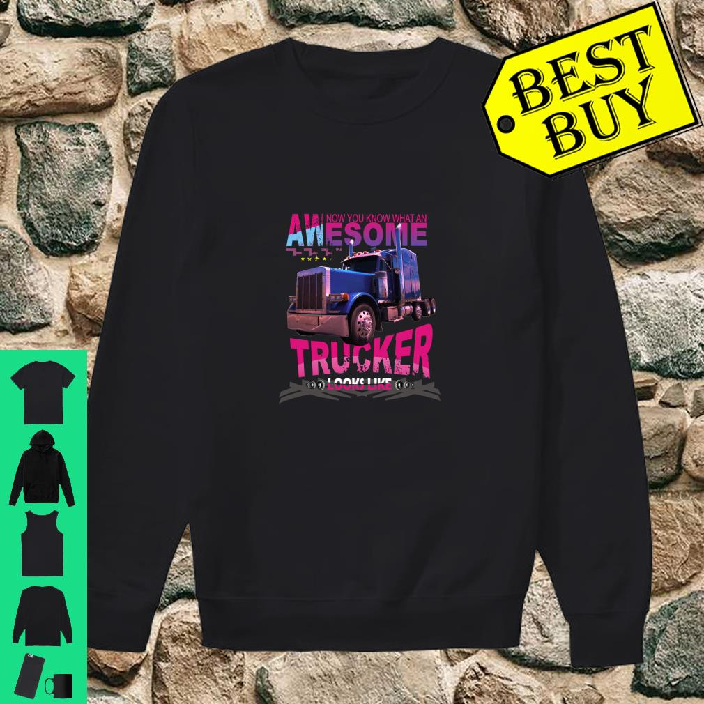 Awesome Trucker Look Like Truck Driver Gifts shirt sweater