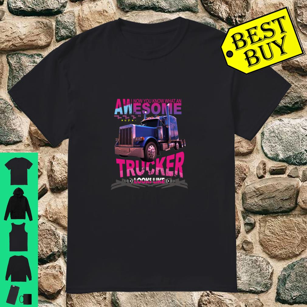 Awesome Trucker Look Like Truck Driver Gifts shirt