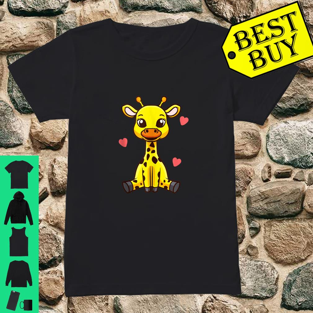 Baby Giraffe Zoo Animals Cute Shirt ladies tee