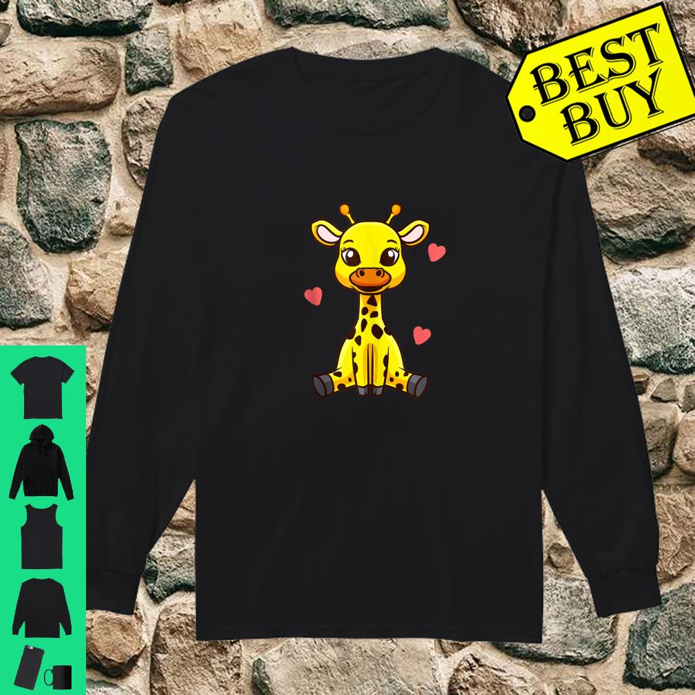 Baby Giraffe Zoo Animals Cute Shirt Long sleeved
