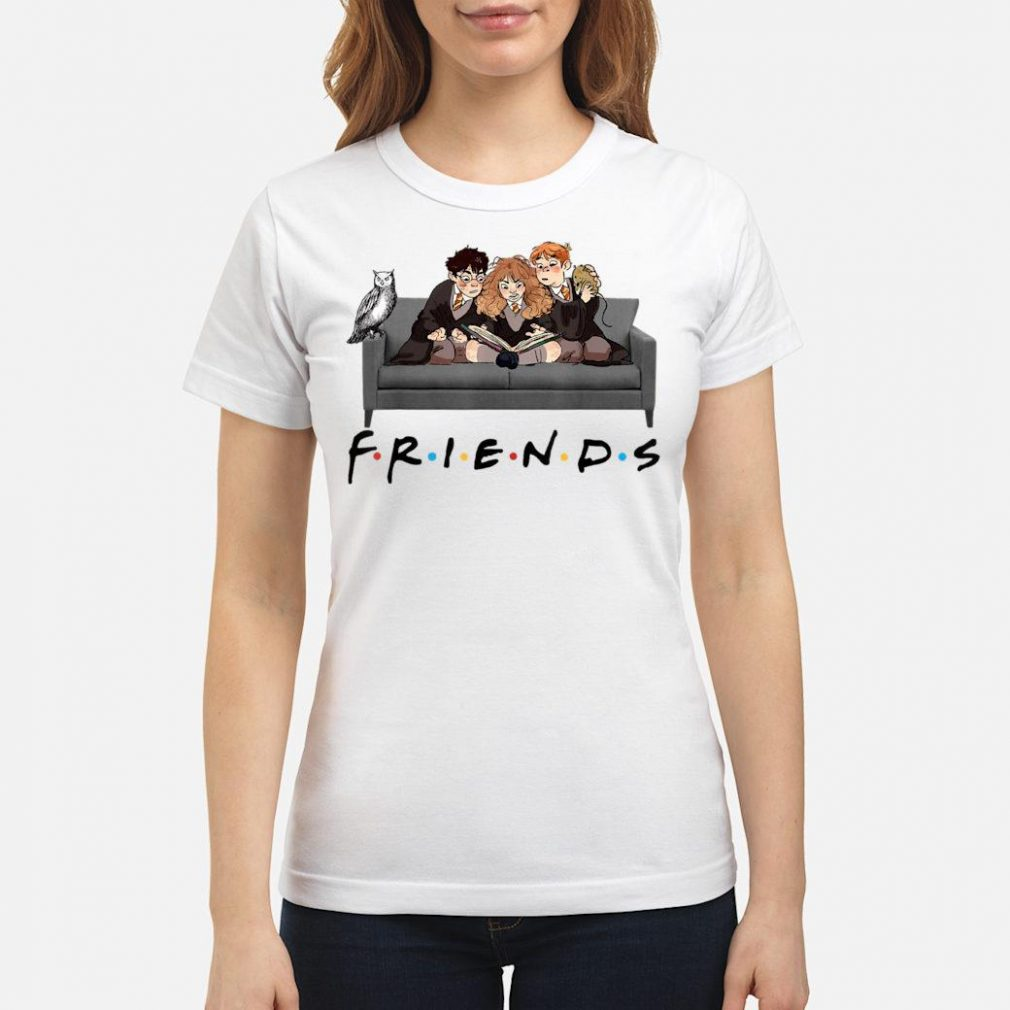 Best Friends Harry Magical Wizard Potter Sofa Halloween shirt ladies tee
