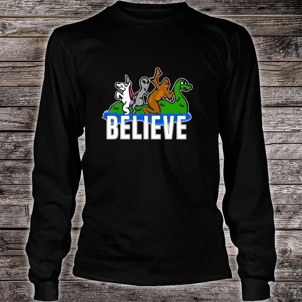Bigfoot Unicorn Alien Ride Ness Monster Believe Mythologic Shirt long sleeved