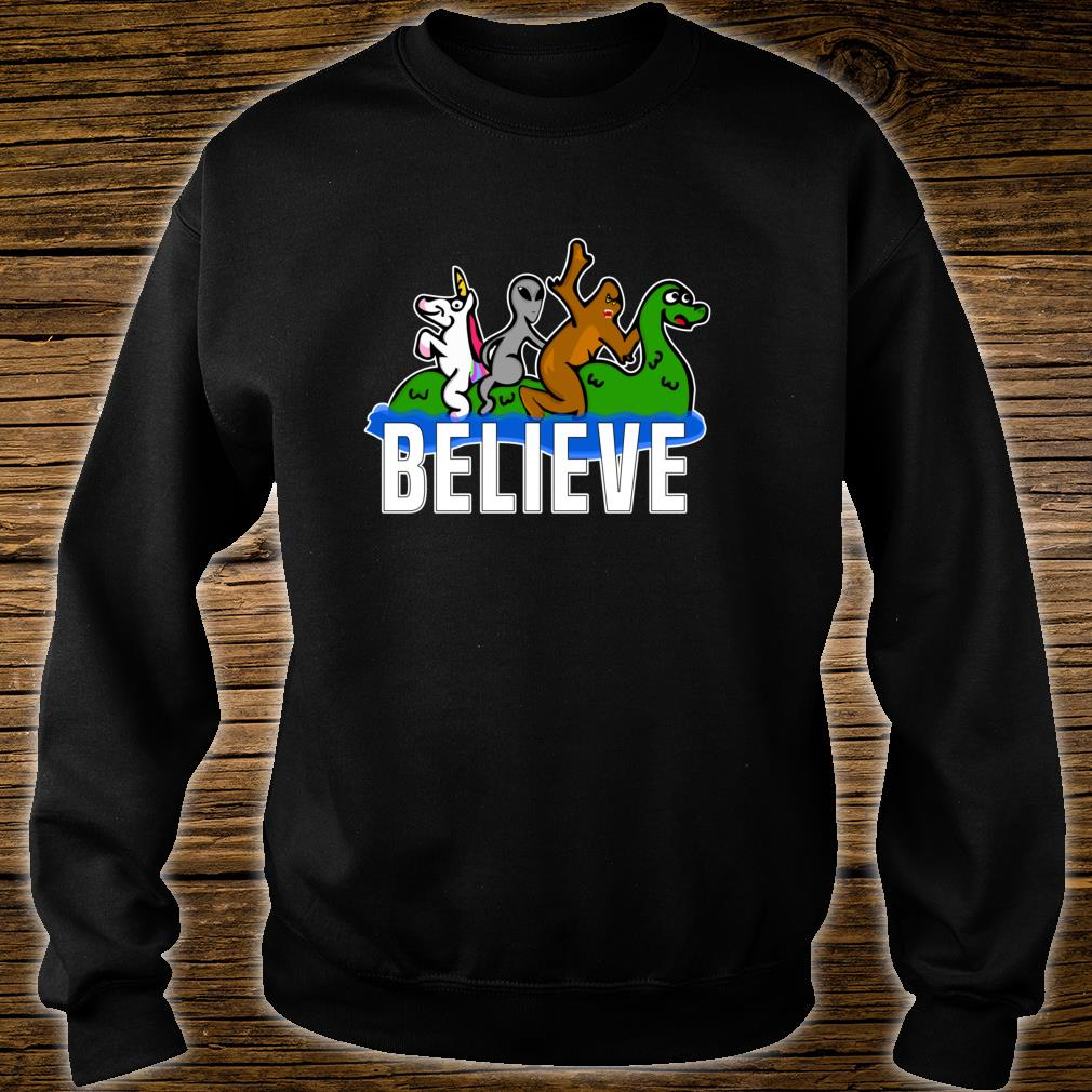 Bigfoot Unicorn Alien Ride Ness Monster Believe Mythologic Shirt sweater