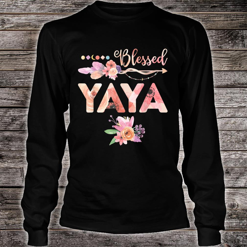 Blessed Yaya Floral Grandma Mother's Day Shirt long sleeved