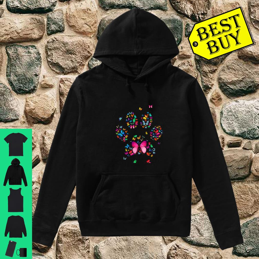Cat Dog Mom Paw Print of Butterfly Shirt hoodie