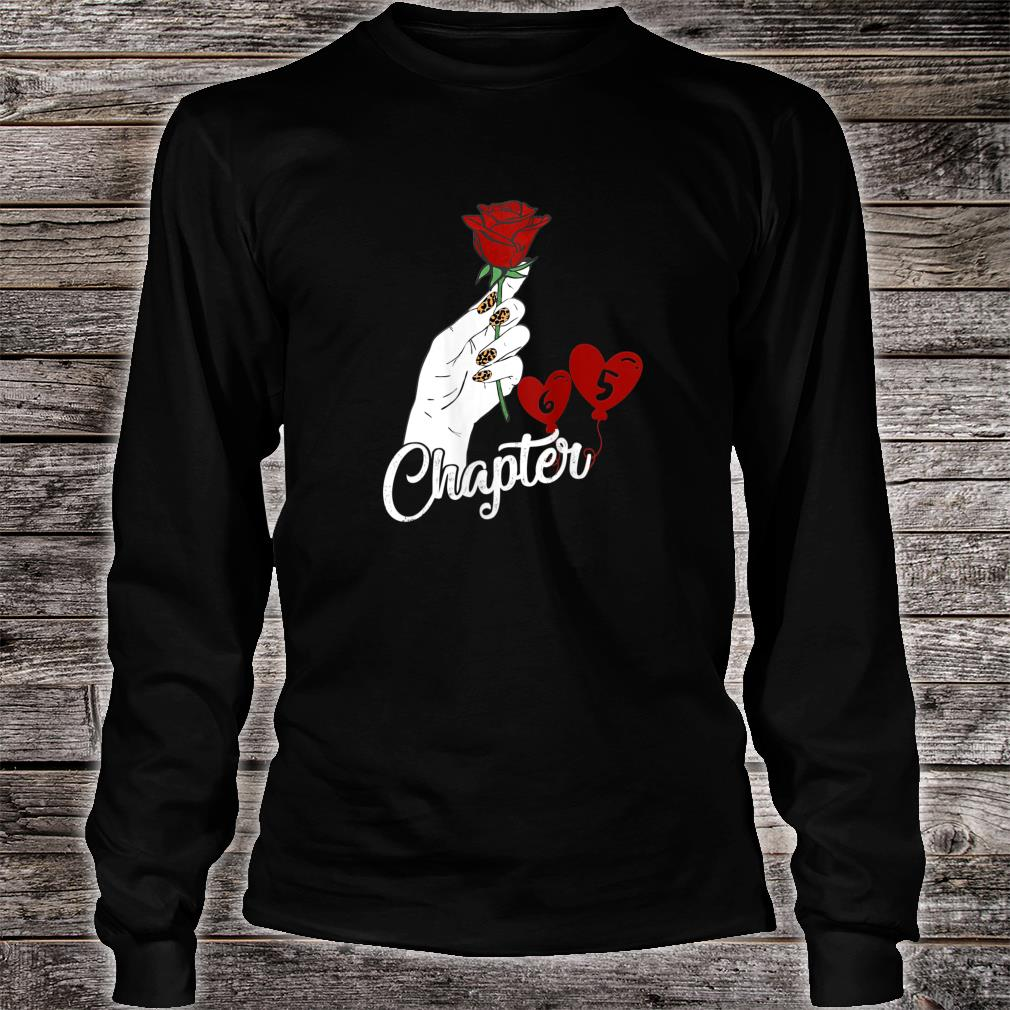 Chapter 65 Birthday Red Rose Hand Leopard Print nails Shirt long sleeved