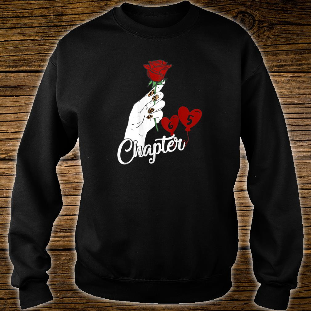 Chapter 65 Birthday Red Rose Hand Leopard Print nails Shirt sweater