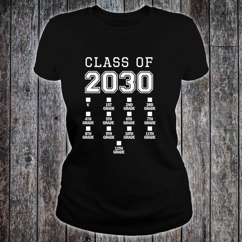 Class of 2030 Grow With Me Space for Checkmarks Shirt ladies tee