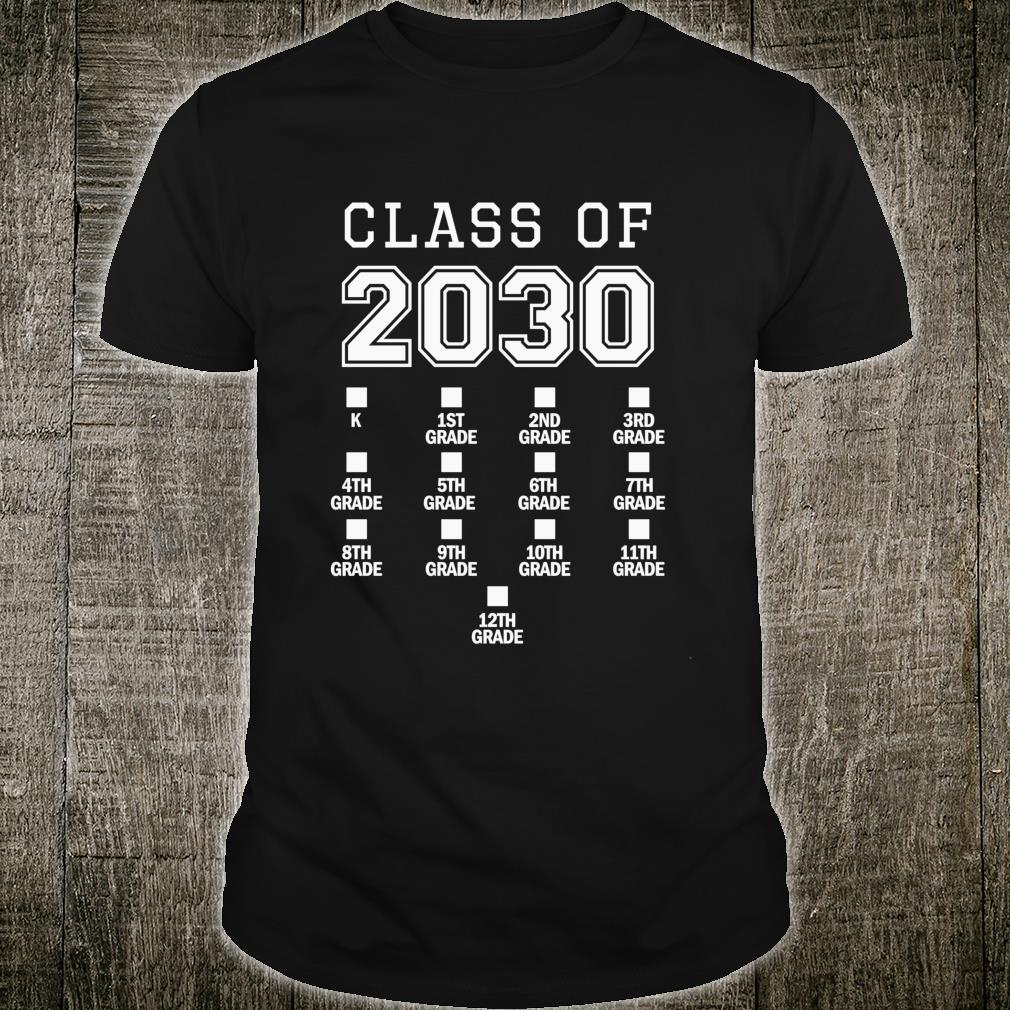 Class of 2030 Grow With Me Space for Checkmarks Shirt