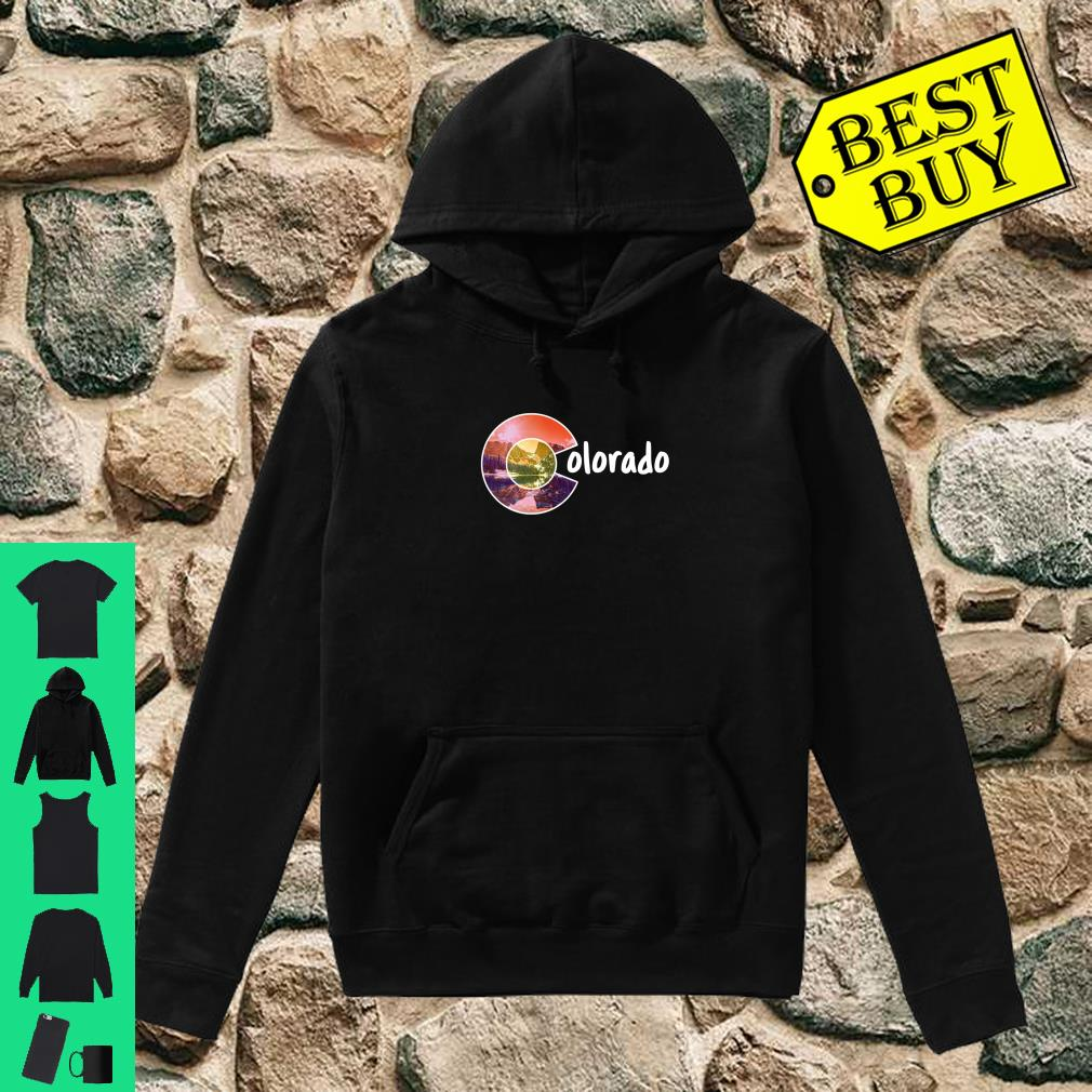 Colorado Flag Mountains Forest and C Design Shirt hoodie
