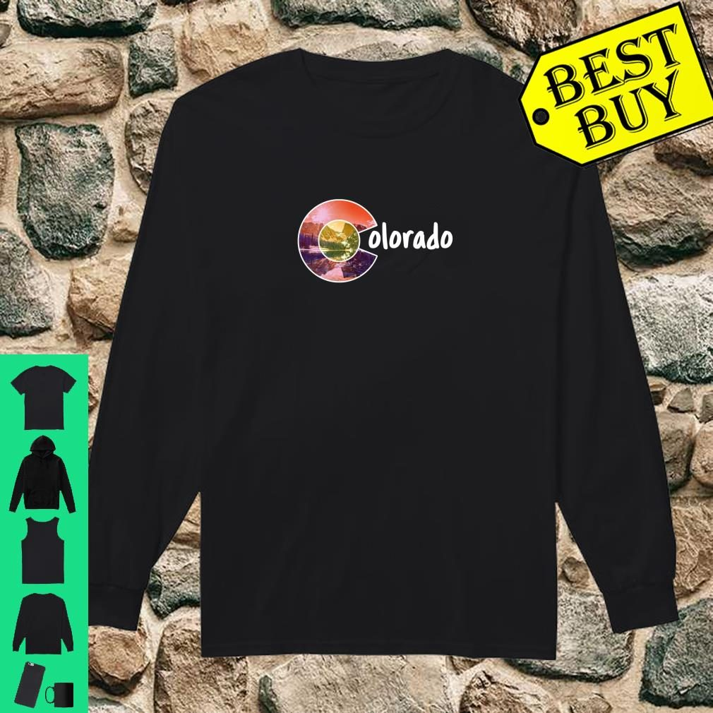 Colorado Flag Mountains Forest and C Design Shirt long sleeved