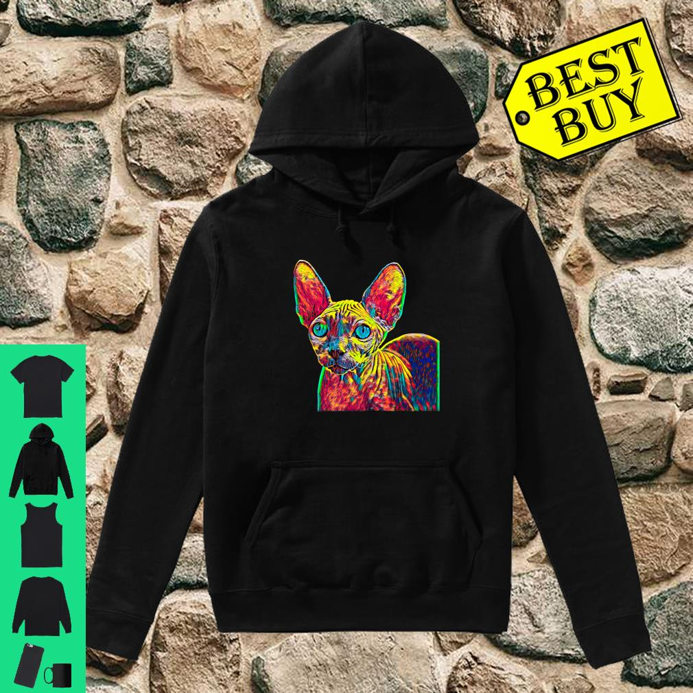 Colorful Sphynx Cat shirt hoodie