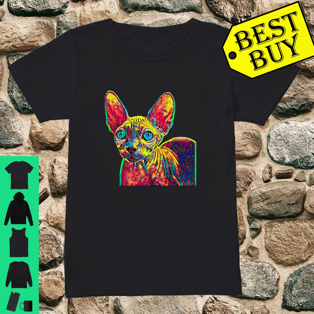Colorful Sphynx Cat shirt ladies tee